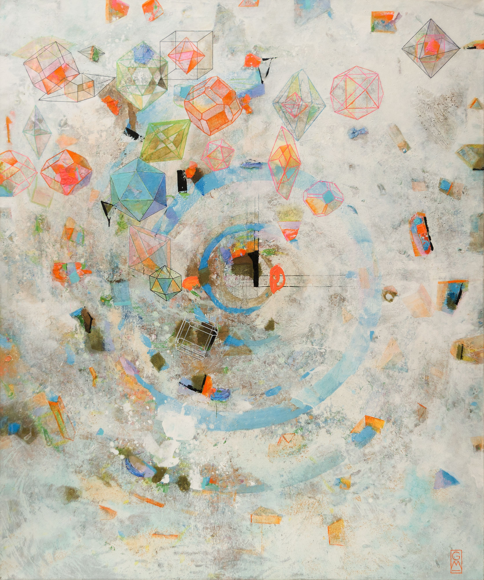 Kristallines | 2011 | 180 x 150 cm | Gerlinde Mader