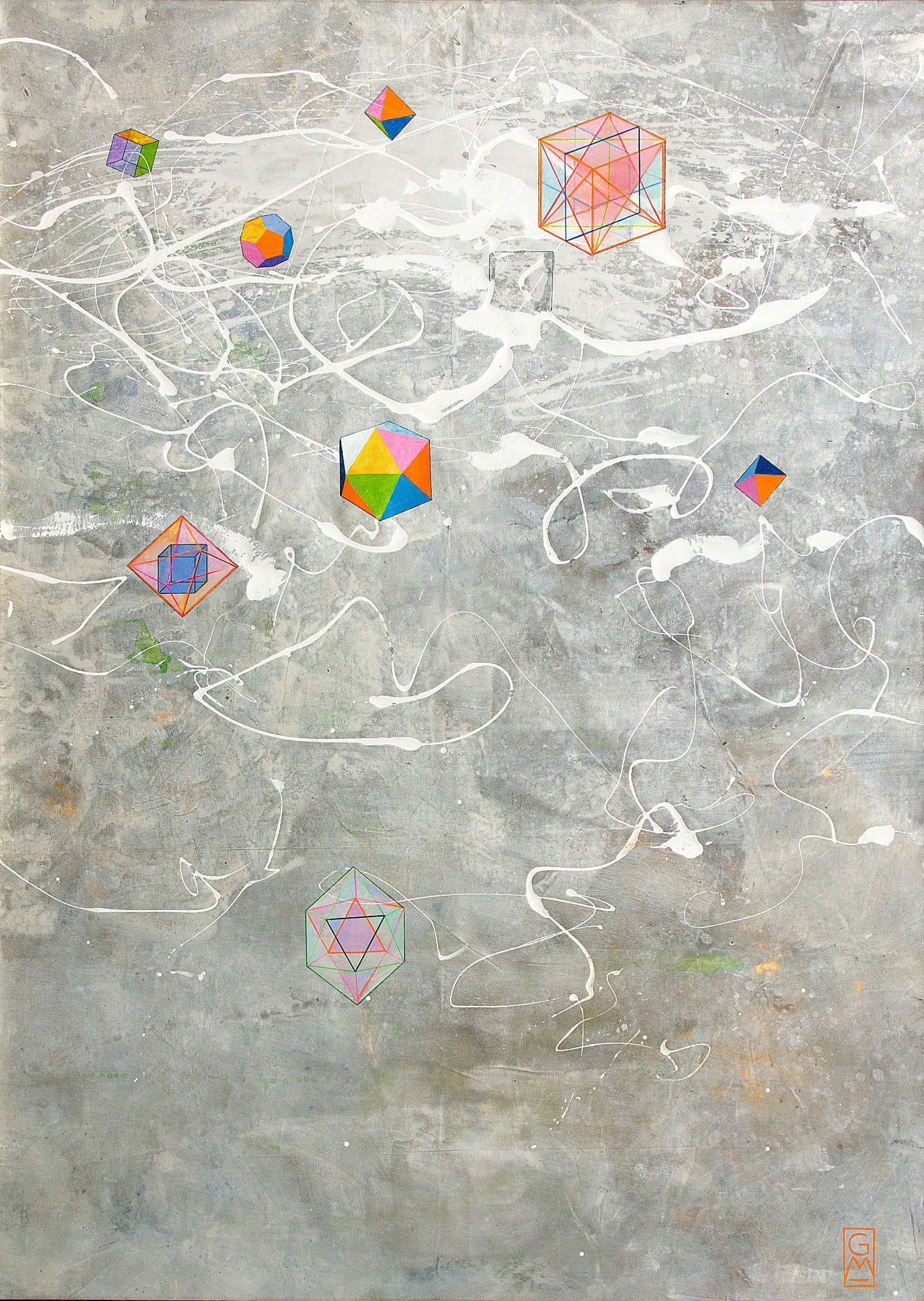 Gerlinde Mader | Platonische Körper und Andere | 180 x 130 cm
