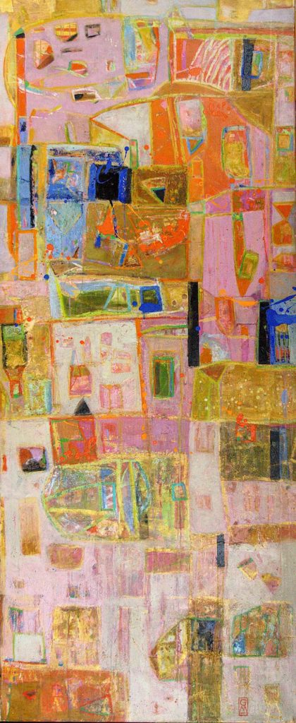 Säulenbunt I | 180 x75 cm | 2008