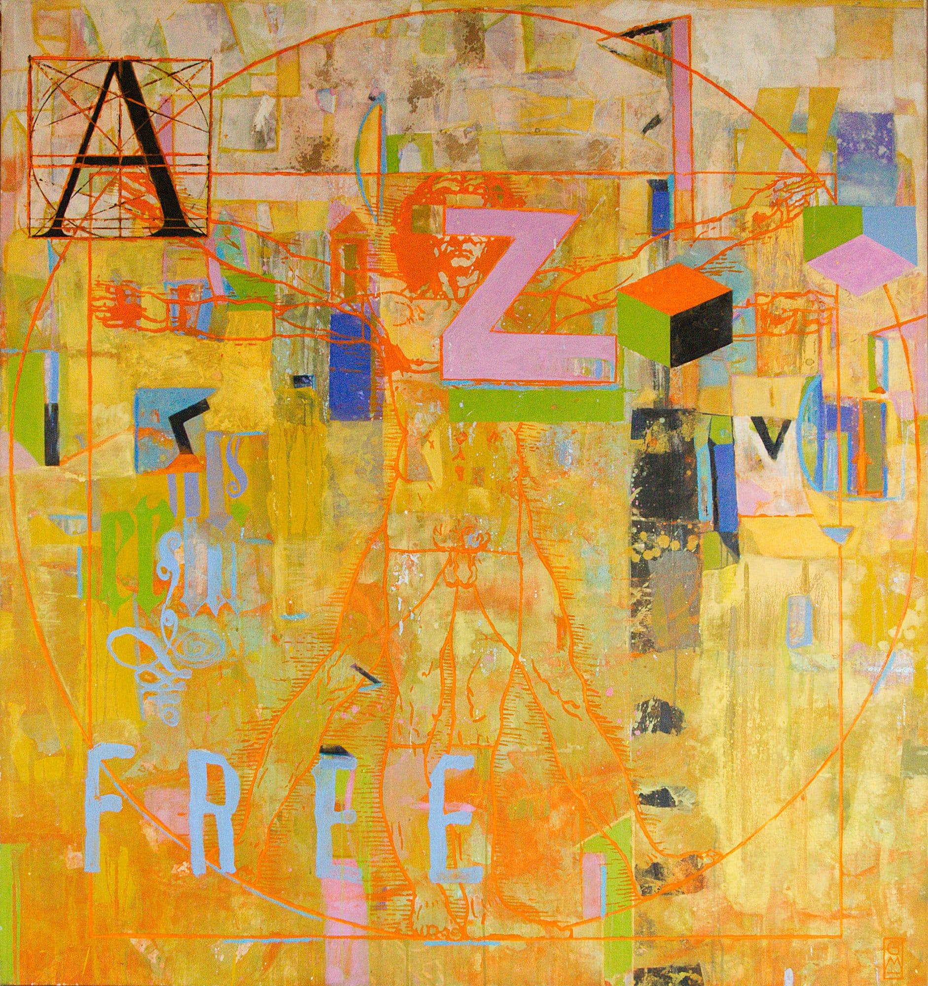 Gerlinde Mader | A-Z | 150 x 140 cm