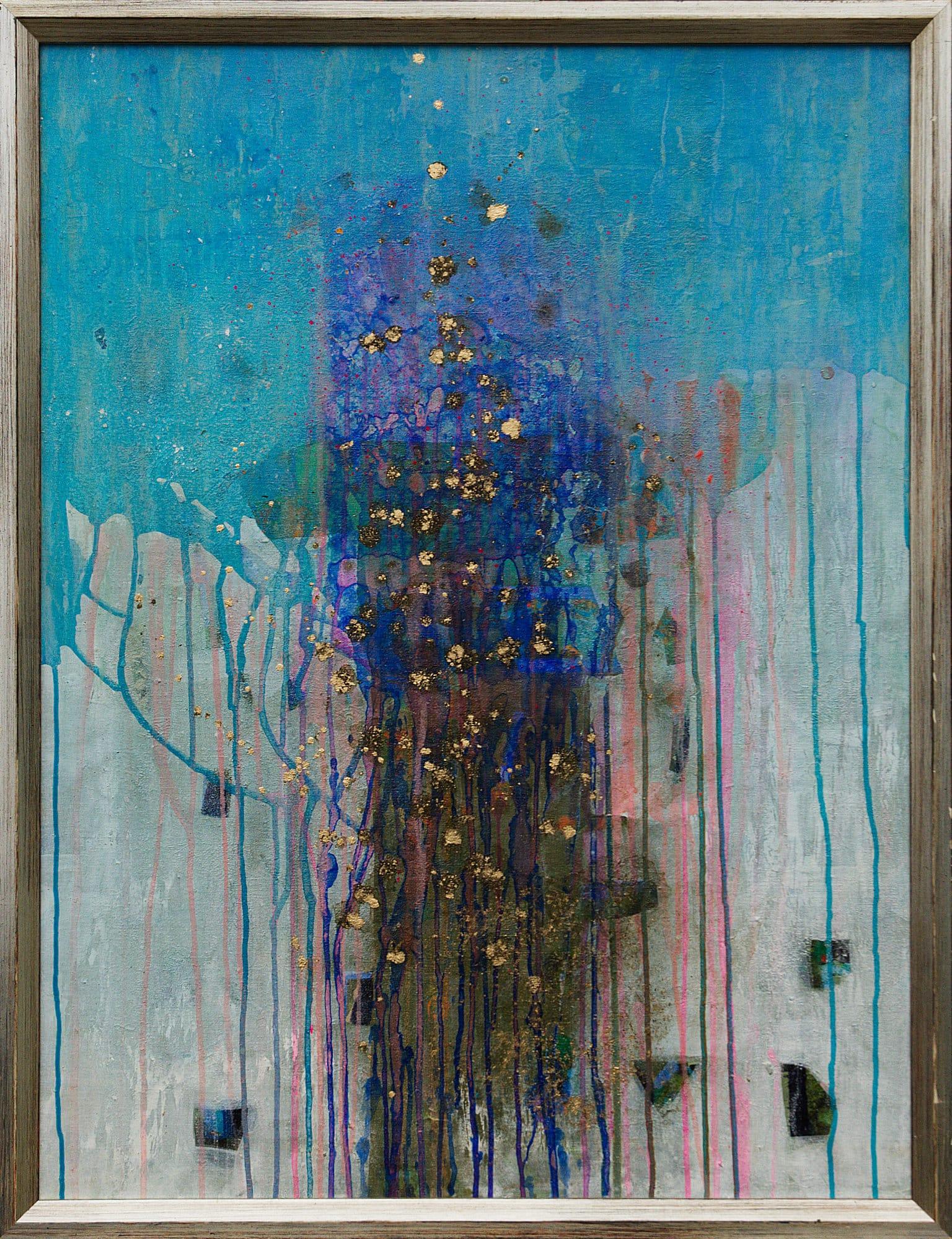 Gerlinde Mader | Abstrakt-VII | 92 x 72 cm inkl. Silberrahmen