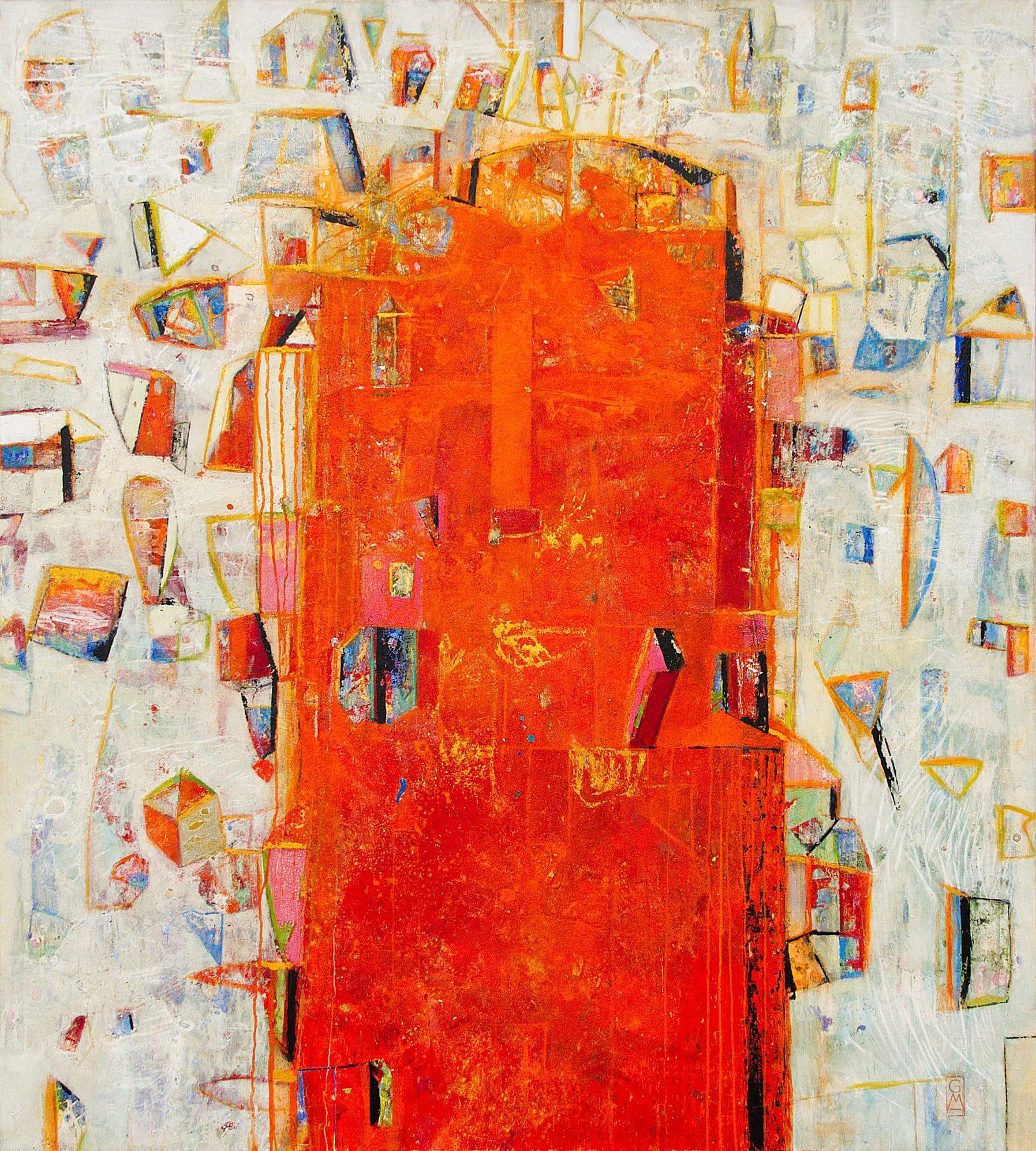 Gerlinde Mader | Rote Stehle | 140 x 150 cm | 2010/11